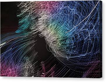 Canvas Print featuring the digital art Man Move 0062 by David Davies