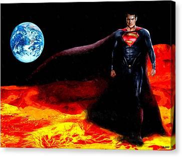 Man Of Steel Canvas Print by Daniel Janda