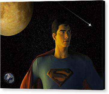 Canvas Print featuring the photograph Man Of Steel by David Dehner