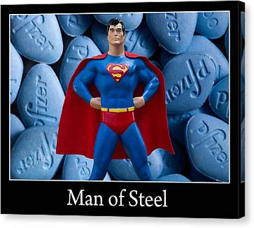 Man Of Steel Canvas Print by William Patrick