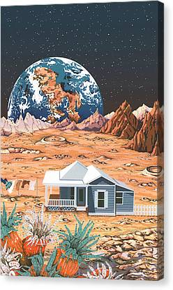 Outer Canvas Print - Man On The Moon by Anne Gifford
