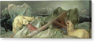 Man Proposes, God Disposes, 1864 Canvas Print by Sir Edwin Landseer