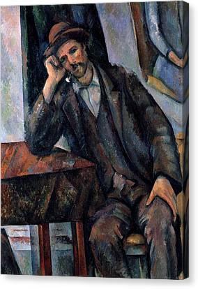 Man Smoking A Pipe Canvas Print