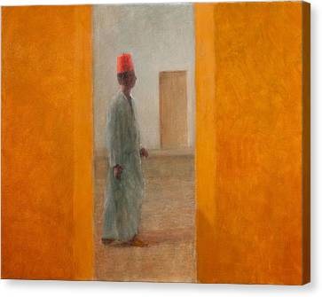 Moroccan Canvas Print - Man, Tangier Street, 2012 Acrylic On Canvas by Lincoln Seligman