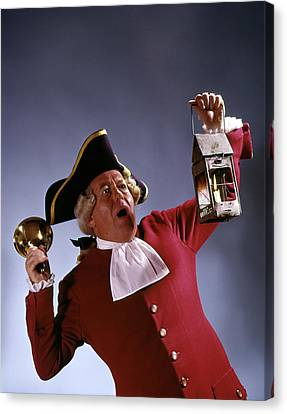 Colonial Man Canvas Print - Man Town Crier 18th Century Colonial by Vintage Images