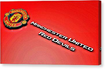 Man United Red Devils Poster Canvas Print by Florian Rodarte