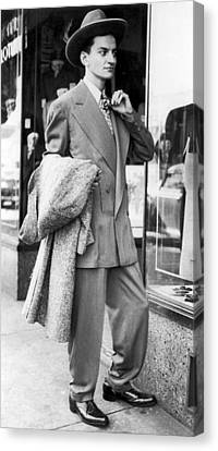 Man Wearing A Zoot-suit Canvas Print by Underwood Archives