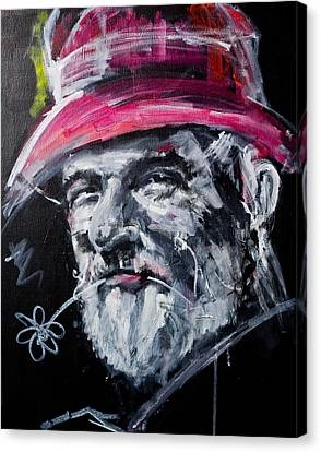 Man With A Flower Canvas Print
