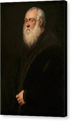 Old Man With Beard Canvas Print - Man With A White Beard by Tintoretto