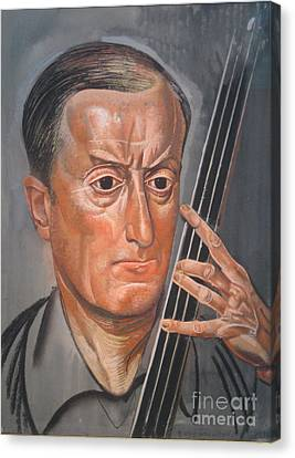 Man With Cello Canvas Print by Celestial Images