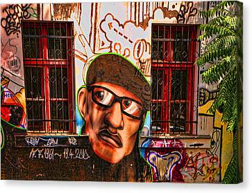 Man With Glasses Canvas Print