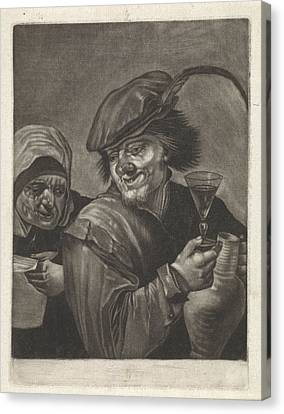 Man With Jug And Wine Glass, Variant A, Jan Van Der Bruggen Canvas Print by Jan Van Der Bruggen