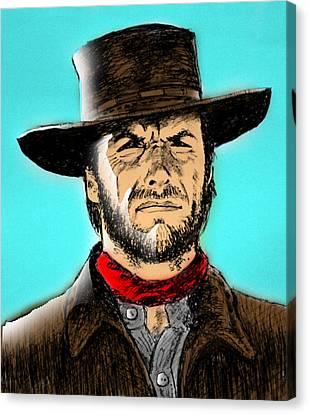 Clint Eastwood Canvas Print by Salman Ravish