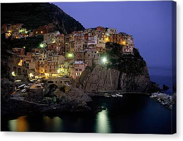 Manarola At Twilight Canvas Print