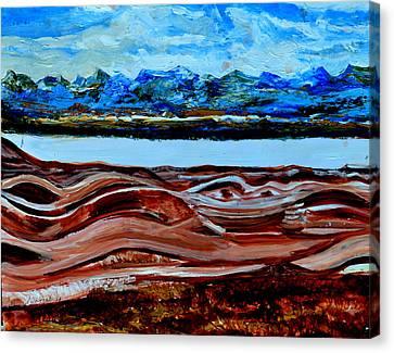 Manas Sarovr Lake-19 Canvas Print by Anand Swaroop Manchiraju
