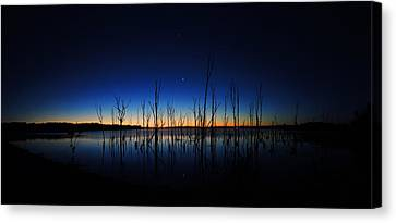 Canvas Print featuring the photograph Manasquan Reservoir At Dawn by Raymond Salani III
