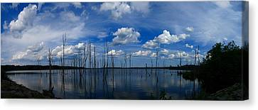 Manasquan Reservoir Panorama Canvas Print by Raymond Salani III
