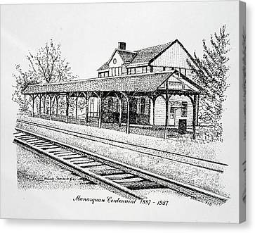 Manasquan Train Station Canvas Print