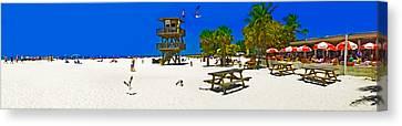 Manatee Beach Cafe Canvas Print by Rolf Bertram