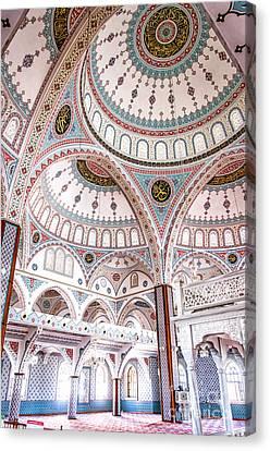 Manavgat Mosque Interior 02 Canvas Print by Antony McAulay
