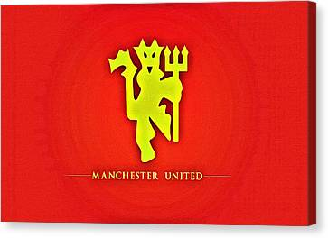 Manchester United Football Club Poster Canvas Print by Florian Rodarte