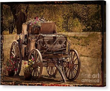 Crazy Horse Canvas Print - Mancos Flower Wagon by Janice Rae Pariza