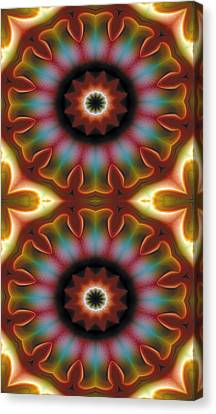Mandala 101 For Iphone Double Canvas Print by Terry Reynoldson