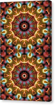 Mandala 102 For Iphone Double Canvas Print by Terry Reynoldson