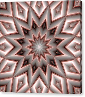 Mandala 107 Red Canvas Print by Terry Reynoldson
