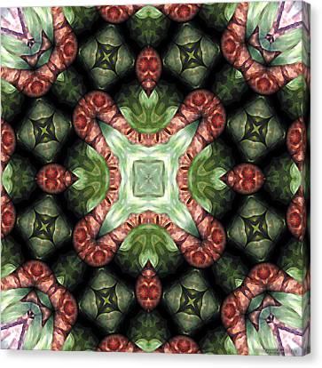 Mandala 113 Canvas Print by Terry Reynoldson
