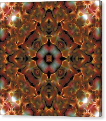 Mandala 119 Canvas Print by Terry Reynoldson