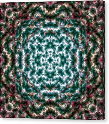 Sacred Canvas Print - Mandala 122 by Terry Reynoldson