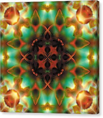 Geometric Canvas Print - Mandala 132 by Terry Reynoldson