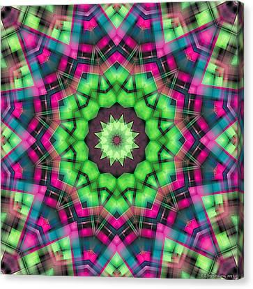 Canvas Print featuring the digital art Mandala 29 by Terry Reynoldson