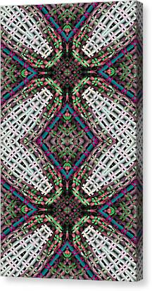 Sacred Geometry Canvas Print - Mandala 32 For Iphone Double by Terry Reynoldson