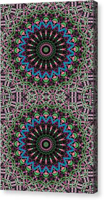 Peace Canvas Print - Mandala 33 For Iphone Double by Terry Reynoldson