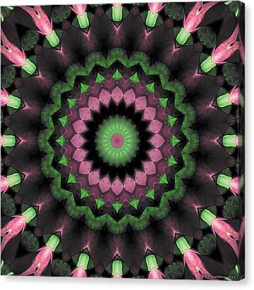 Canvas Print featuring the digital art Mandala 34 by Terry Reynoldson