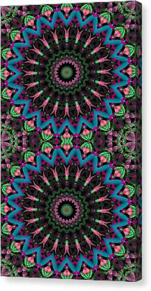 Mandala 35 For Iphone Double Canvas Print by Terry Reynoldson