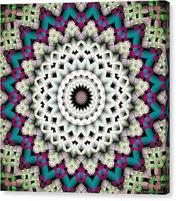 Mandala 36 Canvas Print by Terry Reynoldson