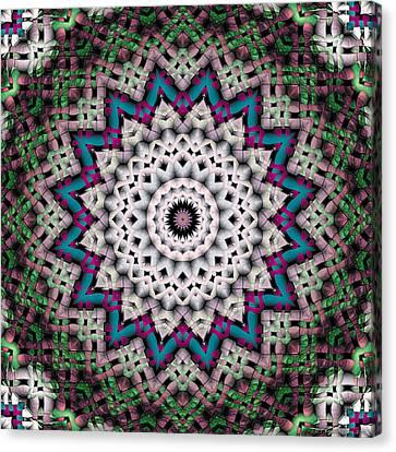 Canvas Print featuring the digital art Mandala 37 by Terry Reynoldson