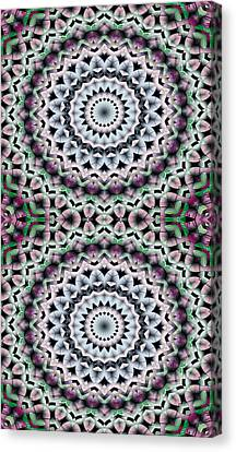 Mandala 40 For Iphone Double Canvas Print by Terry Reynoldson