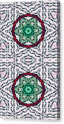 Sacred Geometry Canvas Print - Mandala 7 For Iphone Double by Terry Reynoldson