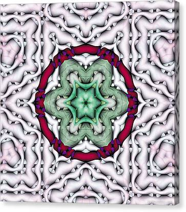 Canvas Print featuring the photograph Mandala 7 by Terry Reynoldson
