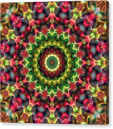 Canvas Print featuring the digital art Mandala 70 by Terry Reynoldson