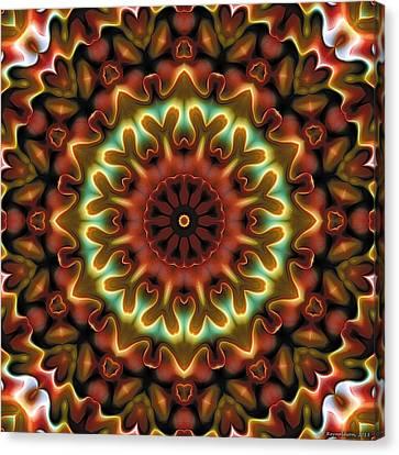 Canvas Print featuring the digital art Mandala 71 by Terry Reynoldson