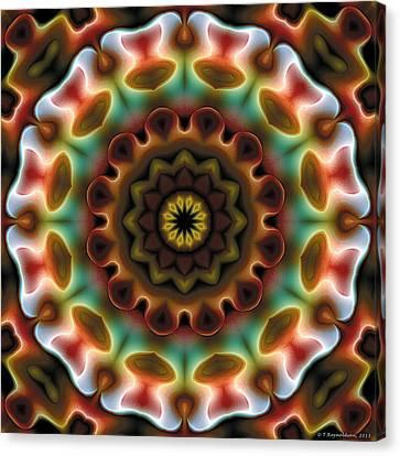 Canvas Print featuring the digital art Mandala 74 by Terry Reynoldson