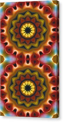 Mandala 75 For Iphone Double Canvas Print by Terry Reynoldson