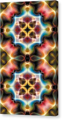 Peace Canvas Print - Mandala 77 For Iphone Double by Terry Reynoldson