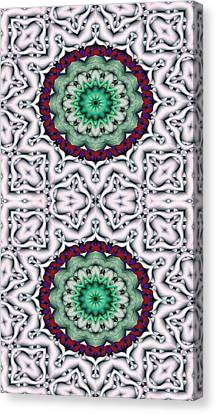 Peace Canvas Print - Mandala 8 For Iphone Double by Terry Reynoldson