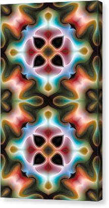 Mandala 82 For Iphone Double Canvas Print by Terry Reynoldson